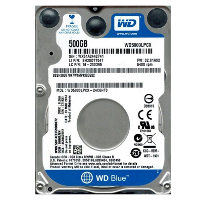 WD BLUE LAPTOP 500 GB