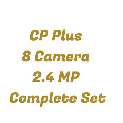 CP Plus 2.4MP FullHD 8 CCTV Cameras with 8Ch. DVR Kit