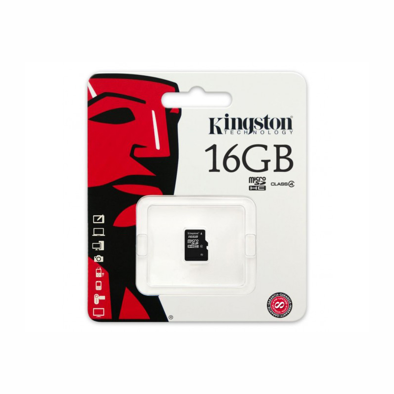 KINGSTON MICRO SD 16 GB MEMORY CARD
