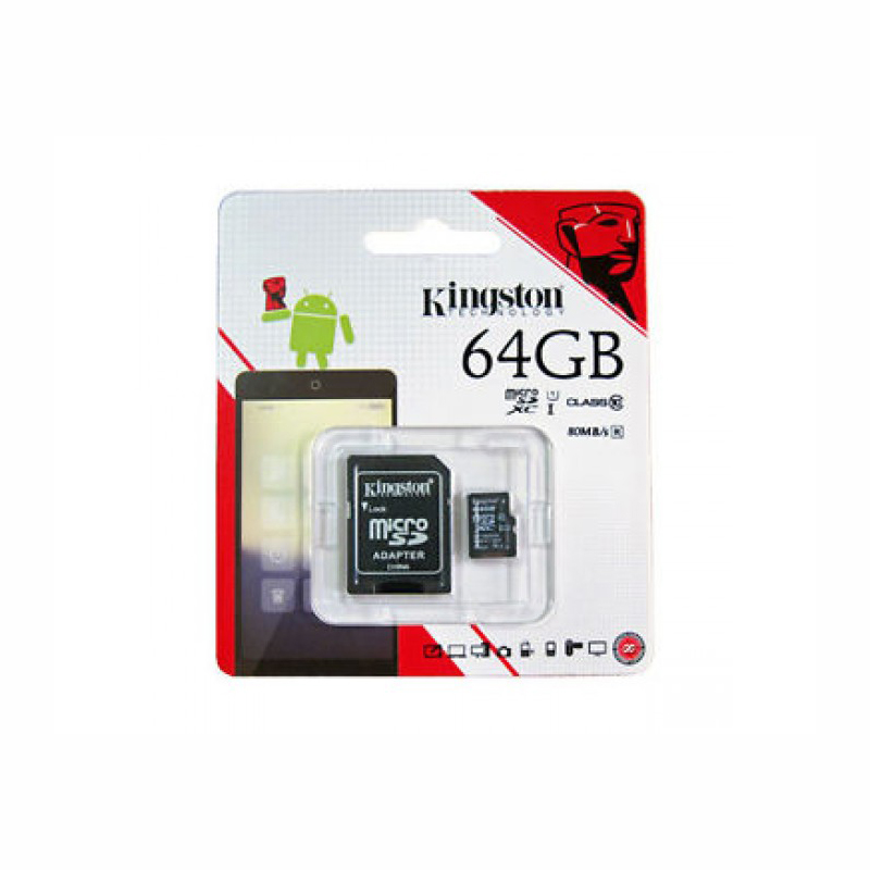 KINGSTON MICRO SD 64 GB MEMORY CARD