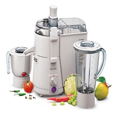 SUJATA POWERMATIC PLUS 900-WATT JUICER MIXER GRINDER ( WHITE )